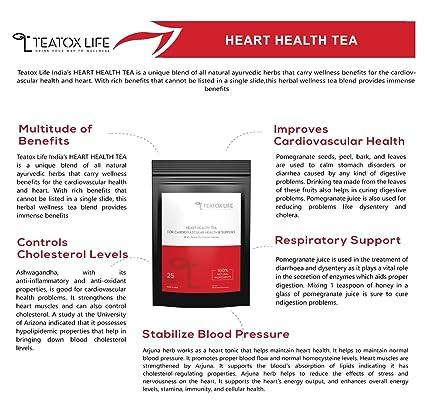 Teatox Life Supplement Men's Healthy Heart Herbal Tea - 25 Bags
