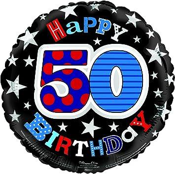 Simon Elvin Feliz Cumpleaños Edad 50 Hombre Globo Foil: Amazon.es: Juguetes y juegos