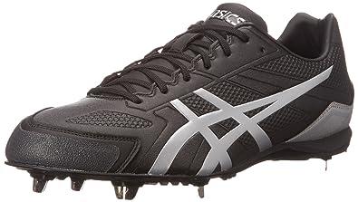 ASICS Men's Base Burner Baseball Shoe, Black/Silver, ...
