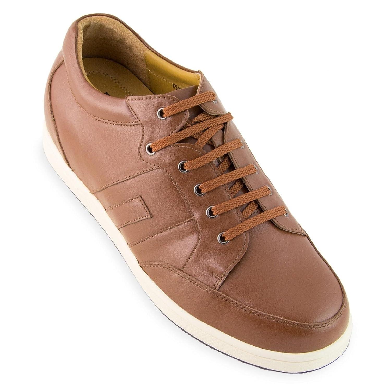 Zapatos de Hombre con Alzas Que Aumentan Altura Hasta 6 cm. Fabricados en Piel. Modelo Ibiza A Marrón