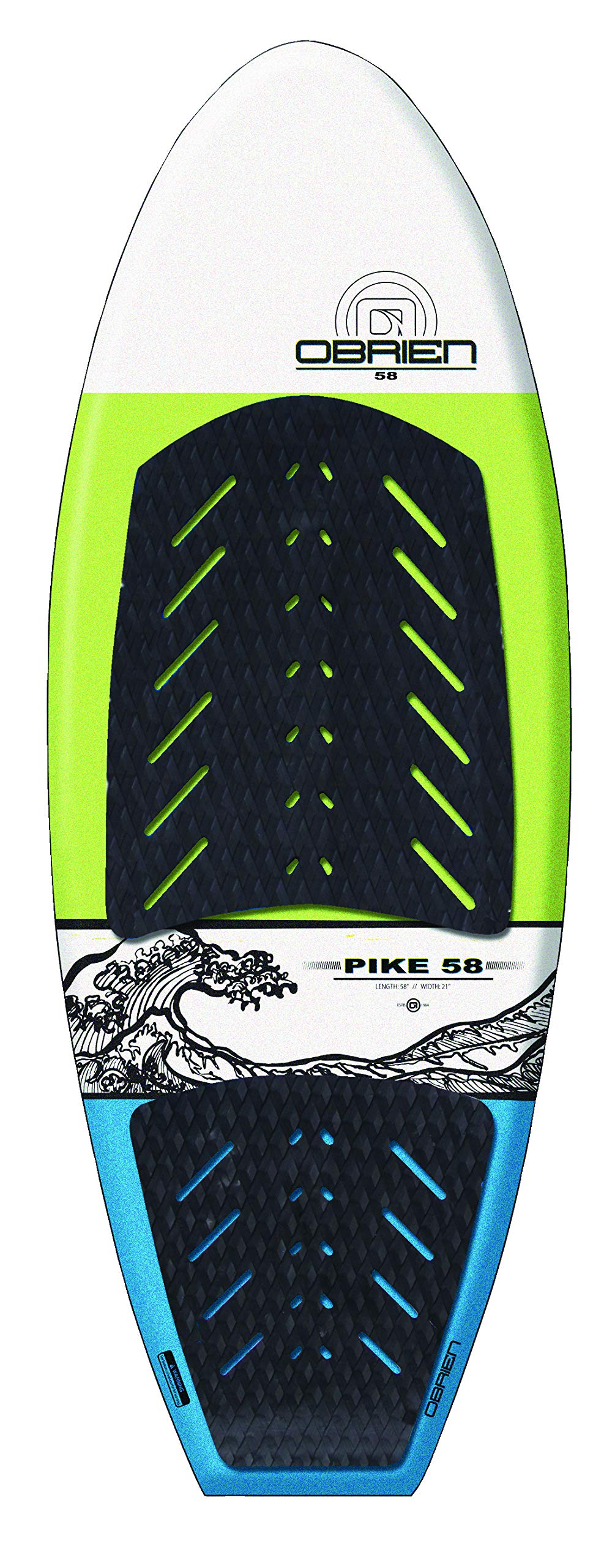 O'Brien Pike Softtop Wakesurf Board, 58'' by O'Brien