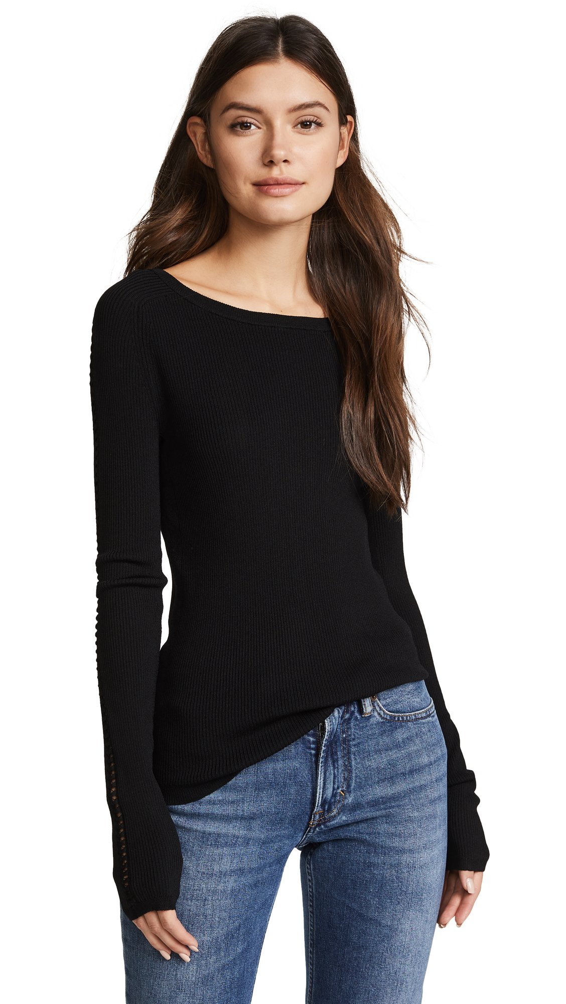 360 SWEATER Women's Eve Sweater, Black, Small