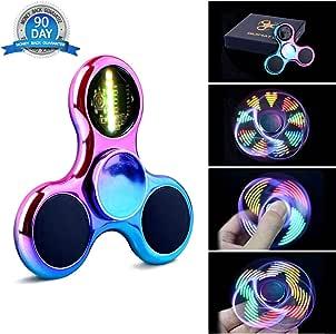 Fidget Spinner Spinner de Mano Quimat con LED Se encienden Juguetes para dedos EDC 18 modalidades de parpadeo perfecto para niños y adultos (colorido): Amazon.es: Juguetes y juegos