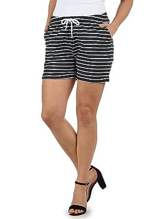 ded62e4d074 Desires Lena Short en Sweat Bermuda Pantalon Court pour Femme Extensible  Coupe Relaxed