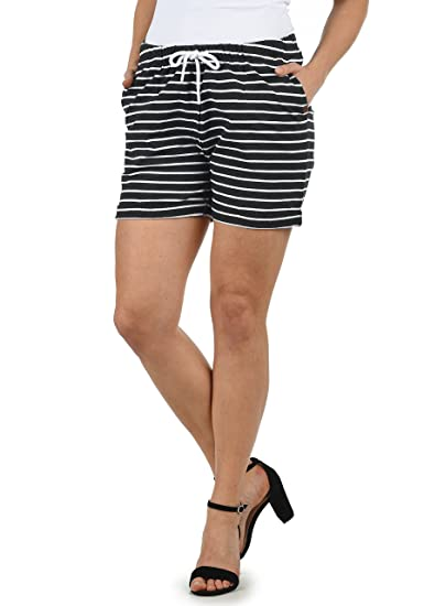 Desires Lena Short en Sweat Bermuda Pantalon Court Femme Extensible Coupe  Relaxed, Taille XS 74cb96f73220