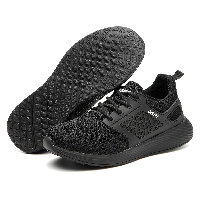 Gainsera Zapatos de Seguridad Zapatos de Trabajo Zapatos con Punta de Acero Ligero y Transpirable Hombres Mujeres Deportes Unisex Zapatos de Verano