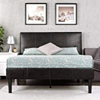 Zinus Gerard Faux Leather Upholstered Platform Bed Frame / Mattress Foundation / Wood Slat Support / No Box Spring Needed / Easy Assembly, Twin
