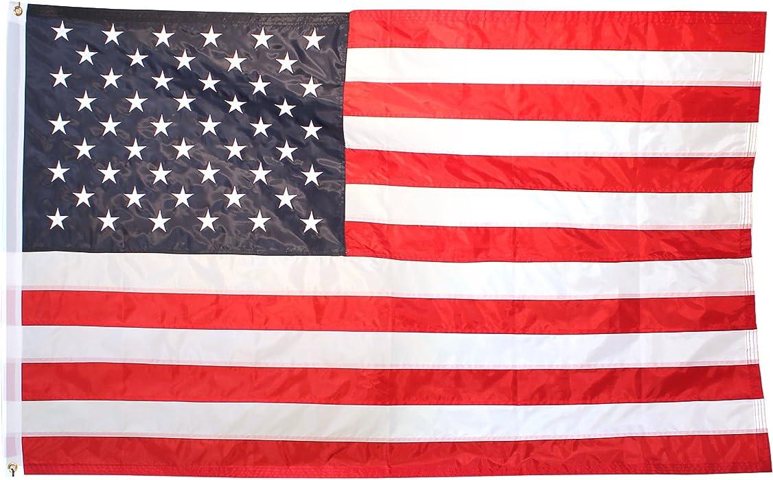 New 3x5 Embriodered Nylon USA Flag American
