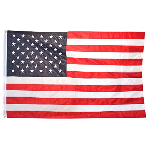 amazon com us flag 3x5 ft embroidered stars sewn stripes