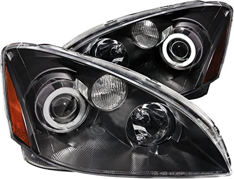 Sold in Pairs Anzo USA 121197 Acura RSX Projector with Halo Black Clear Headlight Assembly