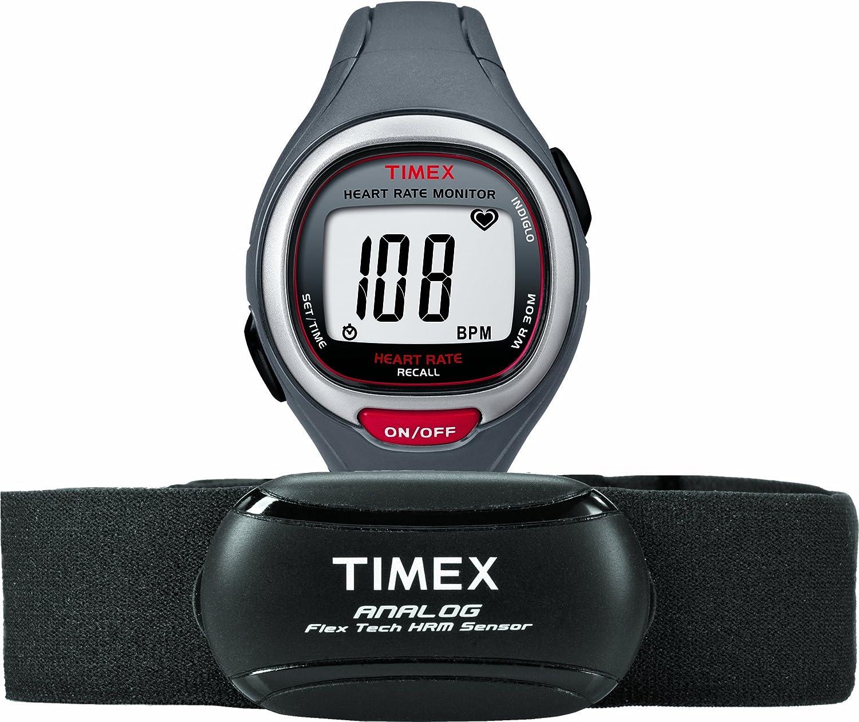 Timex T5K729 Muñeca Negro, Gris, Rojo monitor de ritmo ...