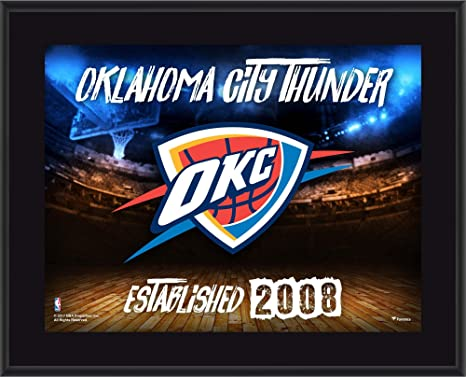 fa9cf9a3ace Image Unavailable. Image not available for. Color  Oklahoma City Thunder  10.5 quot  x 13 quot  Sublimated Horizontal Team Logo Plaque - NBA Team