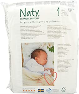 Nature Babycare Eco-Diapers, Size 1, 26 Count