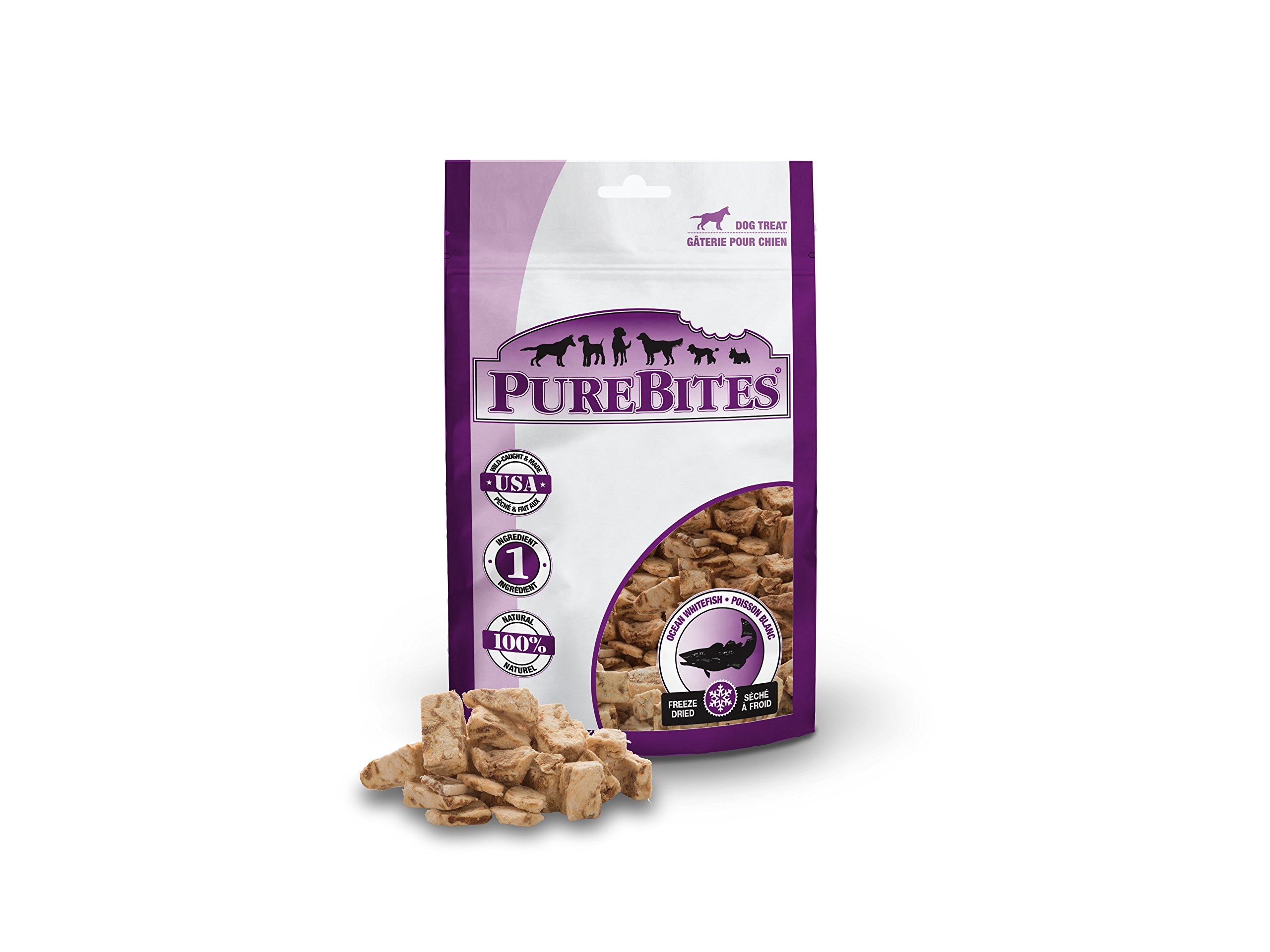 PureBites Ocean Whitefish for Dogs, 7.0oz / 198g - Super Value Size, 12 Pack