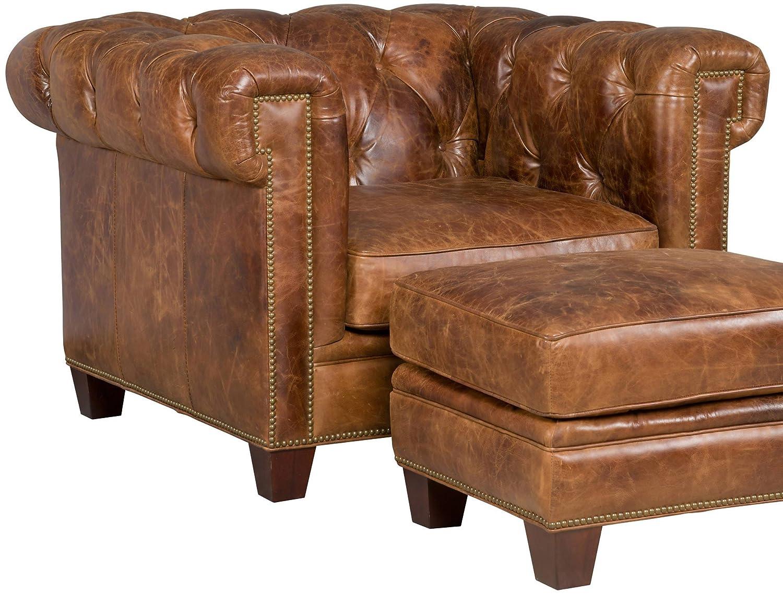 Marvelous Amazon Com Hooker Furniture Seven Seas Stationary Leather Spiritservingveterans Wood Chair Design Ideas Spiritservingveteransorg