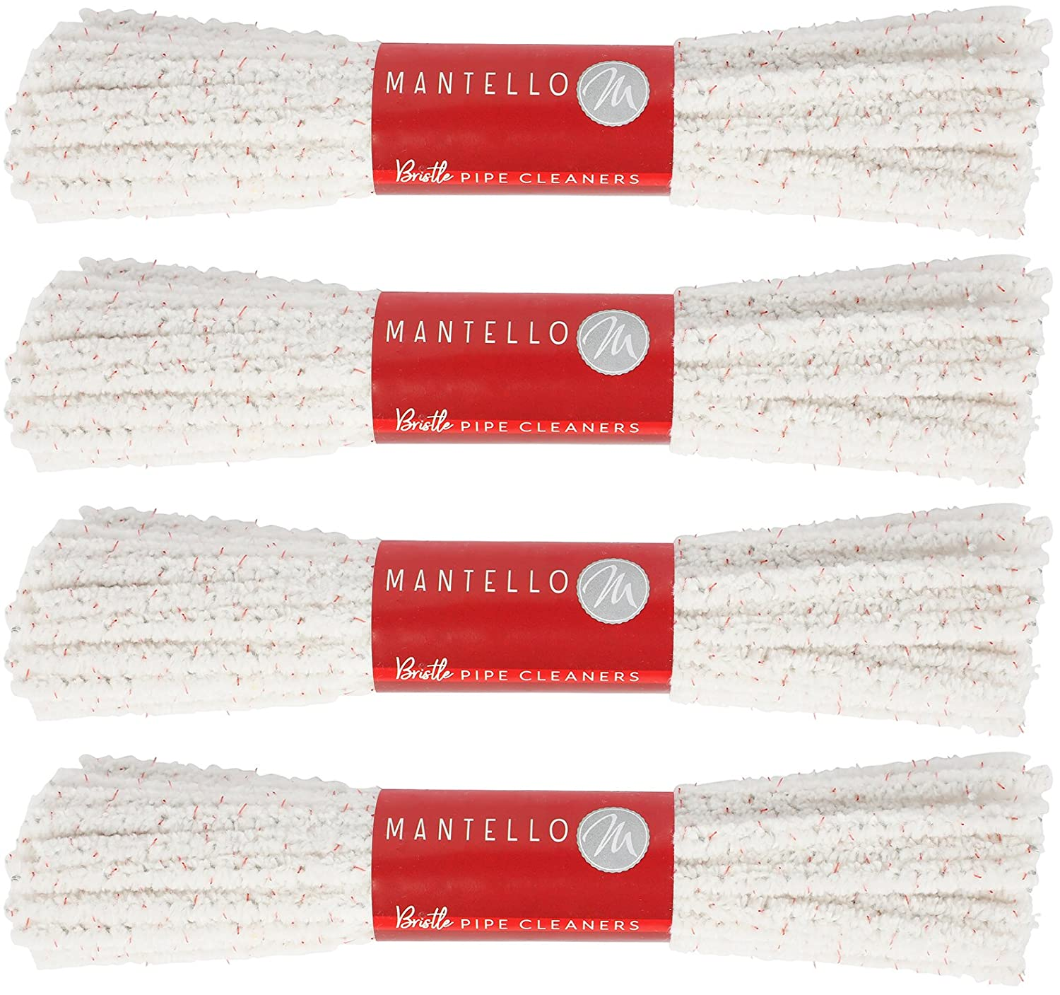 Mantello Pipe Cleaners Hard Bristle, 4 Bundles, 176 Count