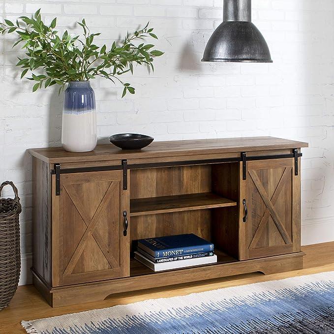 Home Accent Furnishings - Mueble de televisión para Puerta corrediza de Granero (Acabado de Roble rústico): Amazon.es: Juguetes y juegos