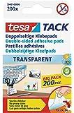 teas 59401 Doppelseitige Klebepads TACK, große Packung mit 200 Pads