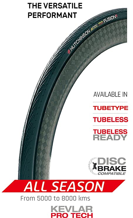 Hutchinson 527731 Fusion 5 copertoncino Tubeless Ready Strada Plegable, Negro, 700 x 25 mm: Amazon.es: Deportes y aire libre