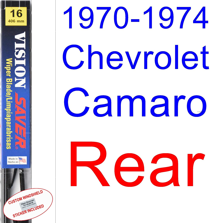 Amazon.com: 1970-1974 Chevrolet Camaro Wiper Blade (Driver) (Saver Automotive Products-Vision Saver) (1971,1972,1973): Automotive