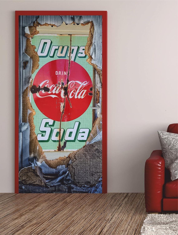 Türposter WERBUNG 100x200cm Türfolie Türtapete Cola Drugs Bar Gastro ...