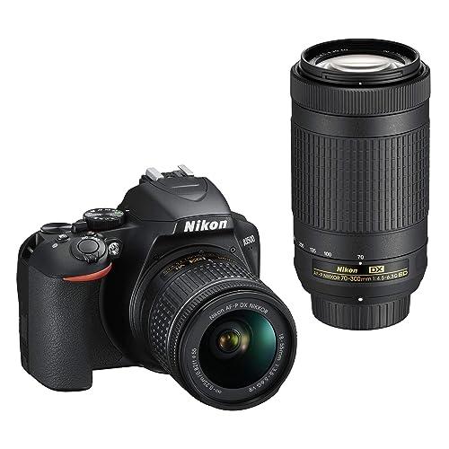 Nikon D3500 DX-Format DSLR Two Lens Kit with AF-P DX Nikkor 18-55mm f/3.5-5.6G VR & AF-P DX Nikkor 70-300mm f/4.5-6.3G ED (Black)