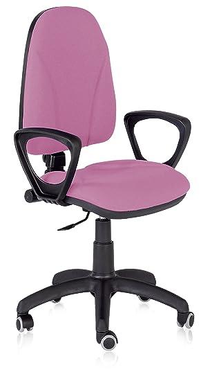 Silla de oficina básica Fast Ergo en color rosa: Amazon.es: Oficina y papelería
