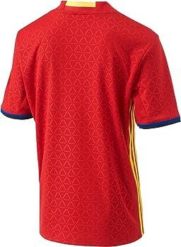 adidas FEF H JSY Y Camiseta Selección Española de Futbol 1ª Equipación 2016/2017, niño, Rojo/Amarillo/Azul (Escarl/Amabri), 176: Amazon.es: Deportes y aire libre