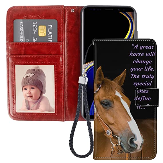 low priced 83acc 0369f Amazon.com: Samsung Galaxy Note 9 Wallet Case, Horse Great Premium ...