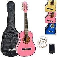 3rd Avenue 1/4 formaat klassiek junior gitaarpakket met gigbag, snaren en stemapparaat - Roze
