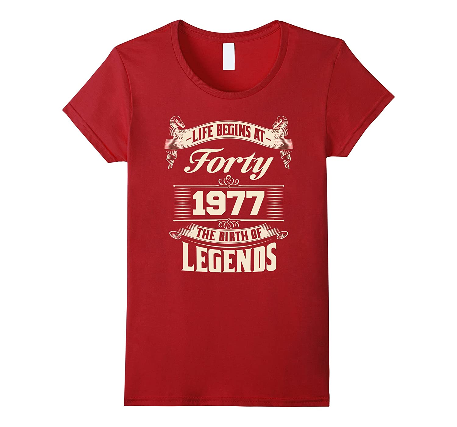Life Begins At 40th 1977 The Birth Of Legends T Shirt