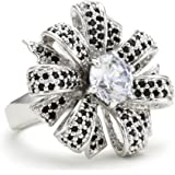 """CZ by Kenneth Jay Lane """"Traditional Collection"""" Parisian Couture Bow Ring"""