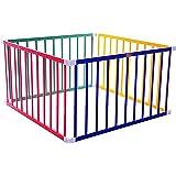 Tikk Tokk Little Boss Square Safety Playpen, Coloured,