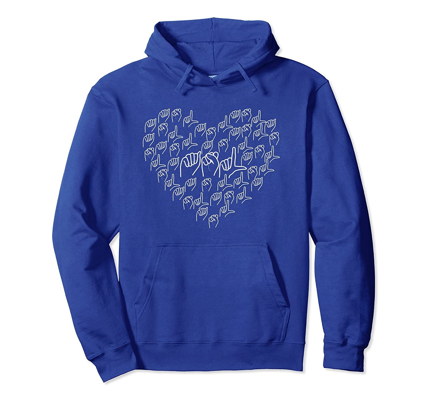 ASL American Sign Language Hoodie Love Interpreting Deaf-mt