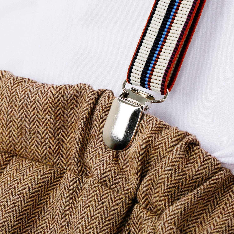 ZOEREA B/éb/é Gar/çons Ensemble de Tenue Page Boy Costumes 4 pi/èces Gilet Pantalon Chemise b/éret Blazer Messieurs Mariage Ensembles de v/êtements de bapt/ême