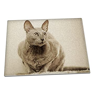 Duke Gifts Mau egipcio gato Animal de cristal tabla de cortar 112