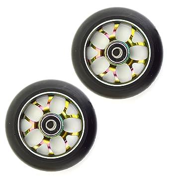Ten Eighty 5Y habló 100 mm (par) ruedas patinete - Rainbow ...