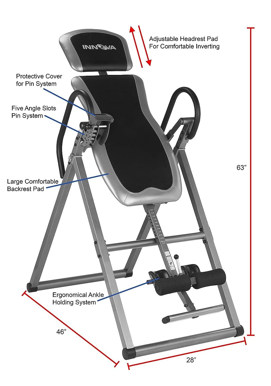 8e939500d8 Innova Health and Fitness ITX9600 Heavy Duty Deluxe Inversion Therapy  Table, Inversion Equipment - Amazon Canada