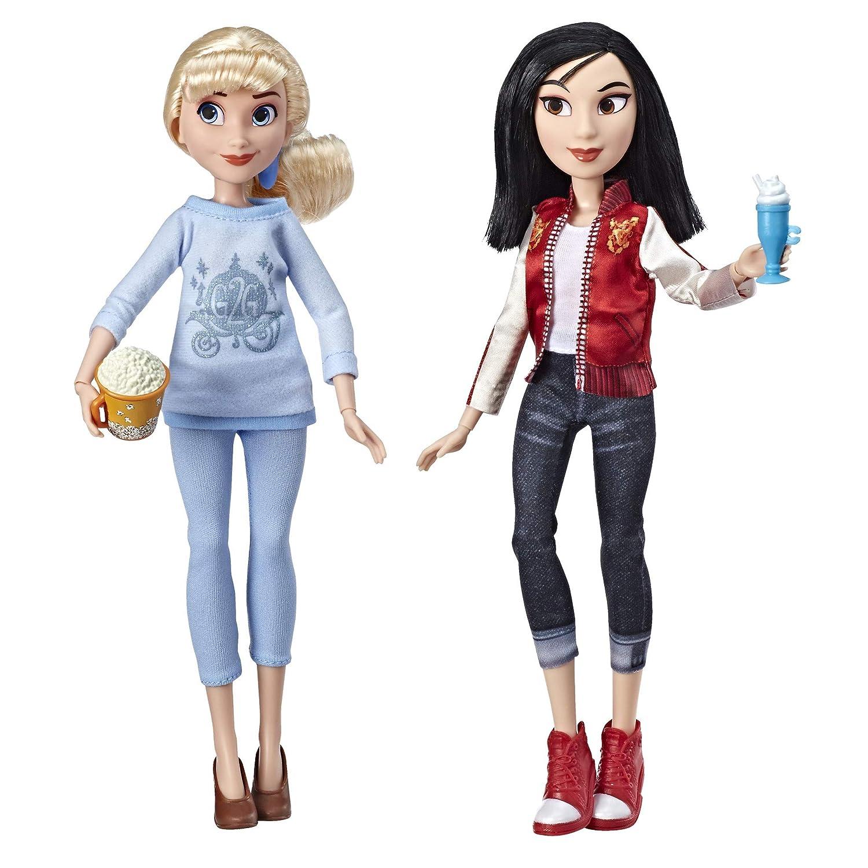 Cinderella /& Mulan Dolls with Comfy Clothes /& Accessories Hasbro E7414 Disney Princess Ralph Breaks The Internet Movie Dolls