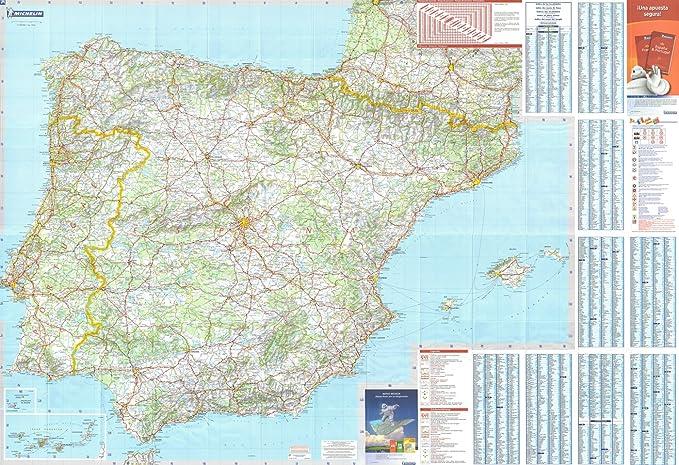 Michelin Mapa Nacional de la pared de España y Portugal: Amazon.es: Hogar