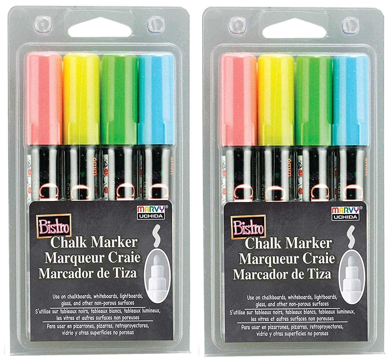 Uchida 480-4A 4-Piece Bistro Chalk Marker Set (Thrее Рack)