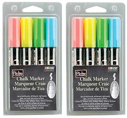 Uchida 480-4A 4-Piece Bistro Chalk Marker Set (Twо Pаck)