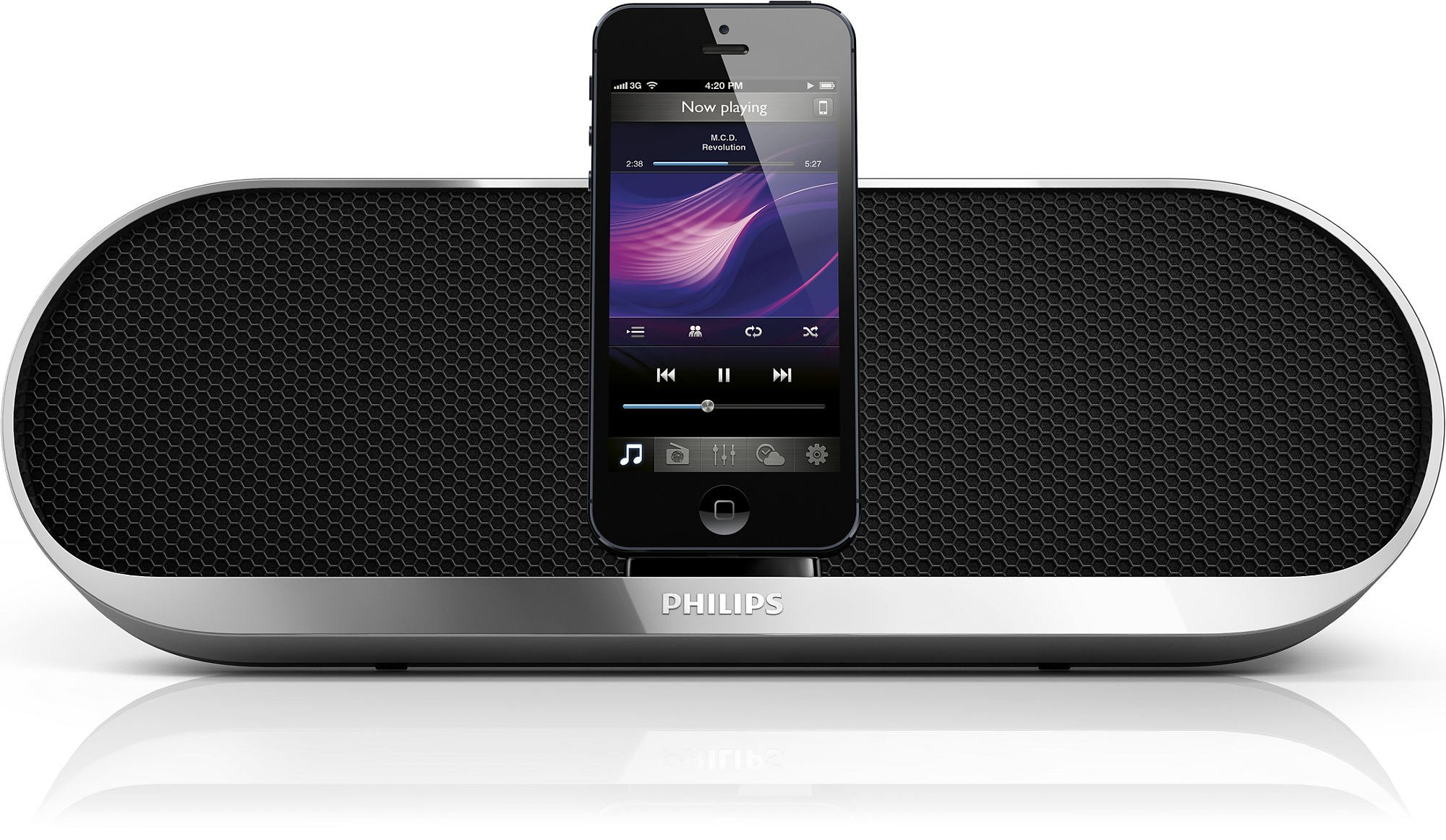 Philips DS7580 Charging Speaker Dock for iPhone 5 with Lightning Dock and 3.5mm Audio Input by PHILIPS
