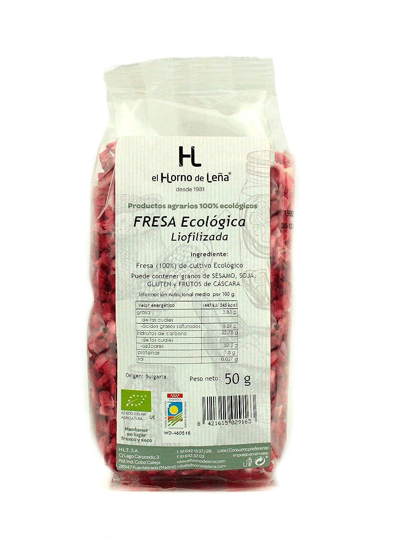 Horno de Leña Fresa Liofilizada Eco 50 g: Amazon.es: Alimentación ...
