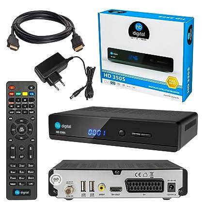 Receptor SET:Receptor HD HB Digital + cable HDMI con función Ethernet y conectores bañados