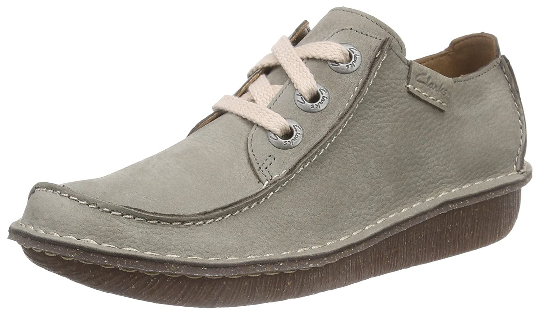 Clarks Funny Dream, Zapatos de Cordones Derby para Mujer 39 EU Verde (Sage Nubuck)