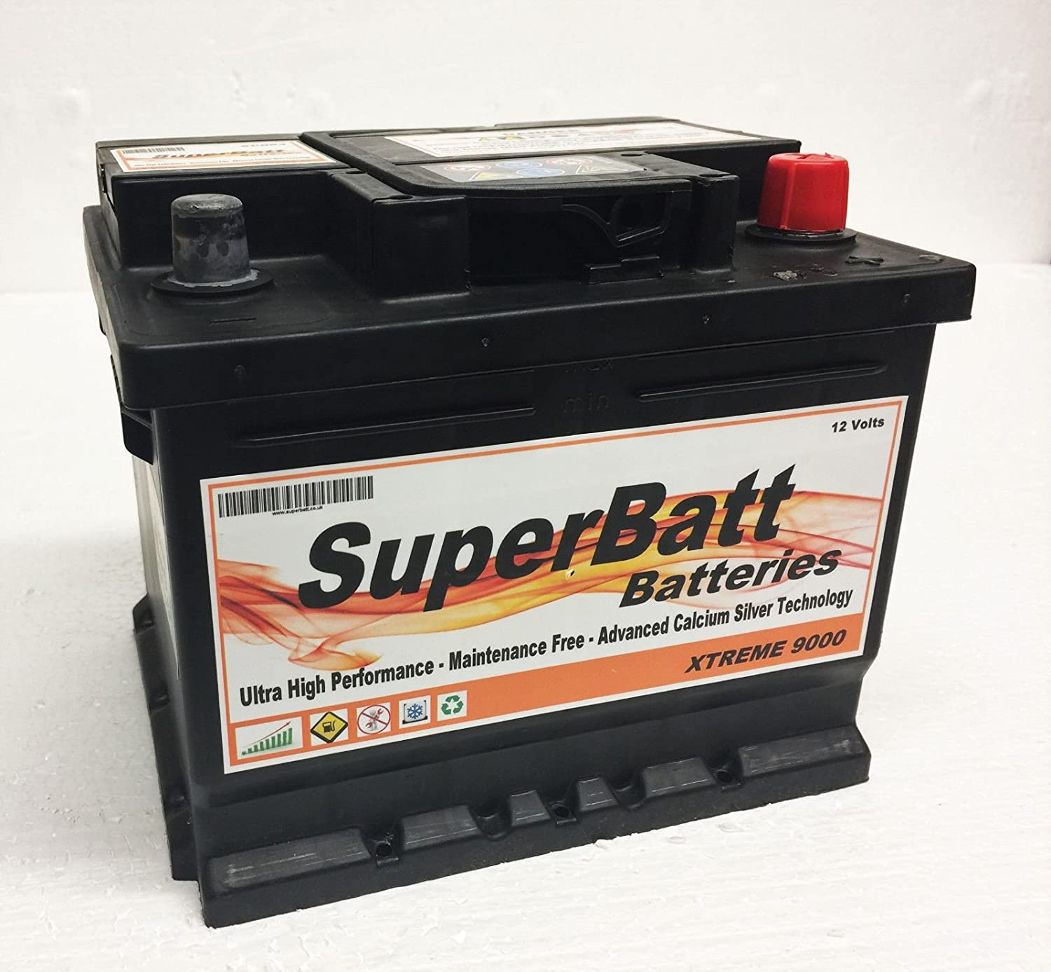 SuperBatt XC063 - 12V 45AH 450A - Heavy Duty Calcium Silver Car Battery (TYPE 063)
