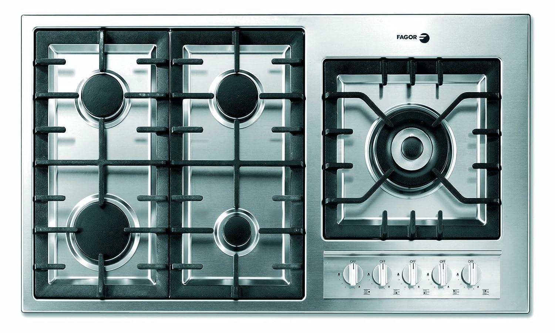 Amazon.com: Fagor 3FIA95GLSTX 36-Inch 5-Burner Gas Cooktop ...