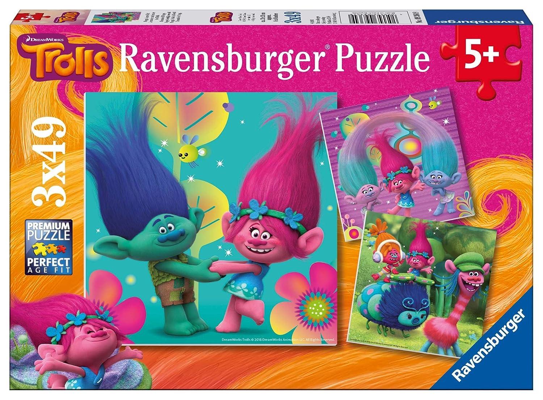 TROLLS - Puzzles, 3 x 49 piezas (Ravensburger 09364) 93649
