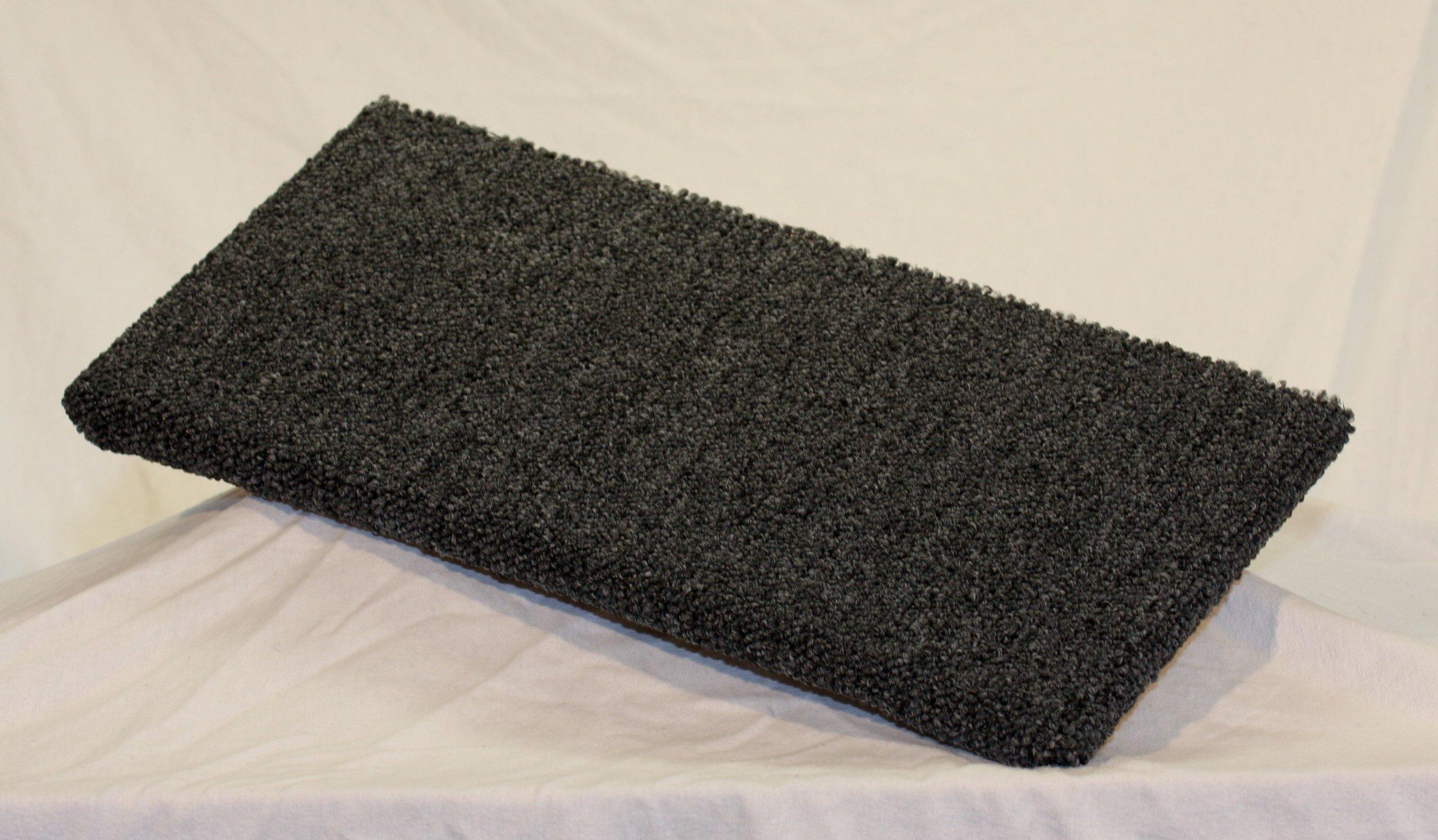 Carpeted Wall Mounted Cat Shelf Dark Grey Medium 20